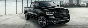 2020 Ram 1500 Sport parked in front of a building in a city