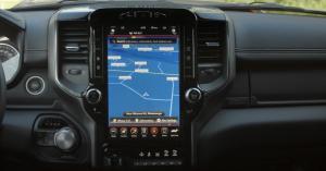 Technology display screen of the Ram 1500 Sport