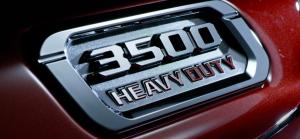 3500 Heavy Duty badging on the Ram 3500 Big Horn
