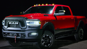 Exterior of red 2020 Ram 2500 Power Wagon