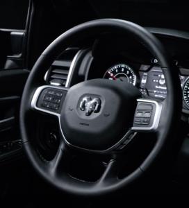 Steering Wheel on the Ram 3500 Big Horn