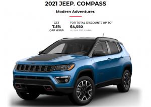 2021 Jeep Compass Special Offers Incentives Devon Chrysler Dodge Jeep Ram Trucks Edmonton Alberta