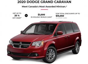 2020 Dodge Gran Caravan Specials Offers Incentives Devon Chrysler Dodge Jeep Ram Trucks Edmonton Alberta