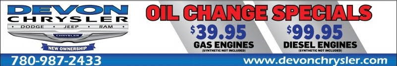 Oil Change Specials Devon Chrysler Dodge Ram Jeep Devon Edmonton Alberta