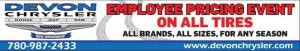 Tires Employee Pricing Event Devon Chrysler Dodge Jeep Ram Tucks Edmonton Alberta