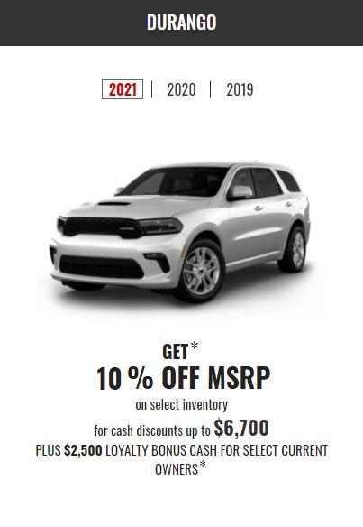2021 Dodge Durango Special Offer Incentives Devon Chrysler Edmonton Alberta