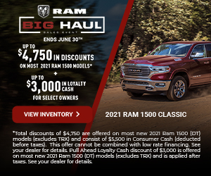 2021 RAM 1500 Promotional Banne