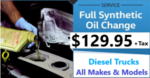Oil Change Special Offer Incentives $129.95 Gas Engines