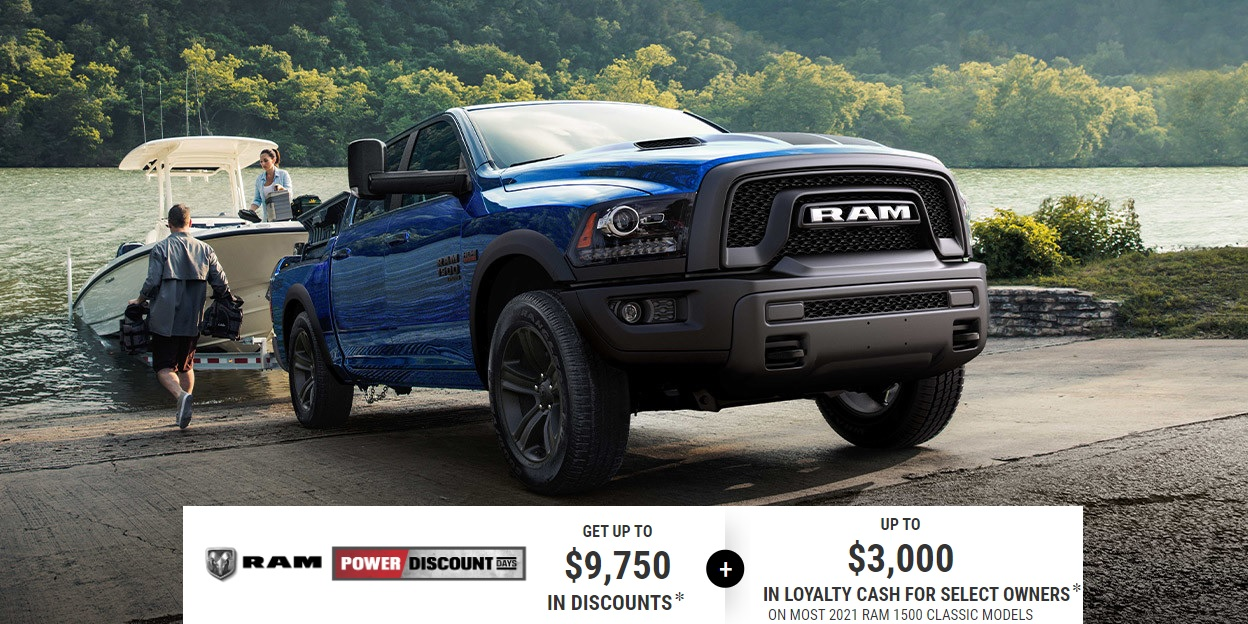Edmonton Ram Truck Special Offers Incentives Devon Chrysler Alberta 2021 Ram 1500 Classic Models  Get up to $9,750 in Discounts on most 2021 Ram 1500 Classic models, plus up to $3,000 in Loyalty Cash for select owners